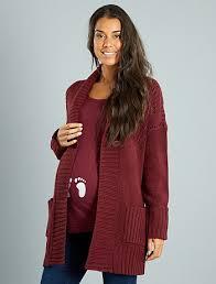 knitted maternity cardigan with shawl neck maternity kiabi