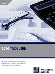professionals australia tax guide 2013 14 wcover2 tax deduction