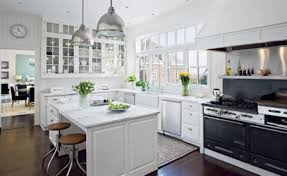top beautiful open kitchen design with white kitchen cabinets with