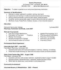 Resume Examples For Pharmacy Technician by Pharmacist Resume 9 Free Word Pdf Documents Download Free