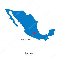 Mexico Cities Map by Detailed Vector Map Of Mexico And Capital City Mexico U2014 Stock