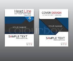 cover layout com brochure blue black elegant vector annual report leaflet brochure