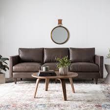 Oxford Leather Sofa Carson Sax Oxford Brown Leather Sofa Free Shipping