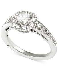Princess Wedding Rings by Marchesa Certified Diamond Princess Engagement Ring 1 Ct T W