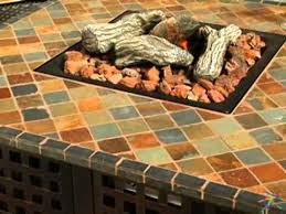 Uniflame Propane Fire Pit - uniflame propane gas fire pit with handcrafted tile product