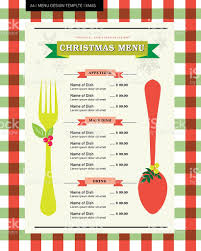 restaurant menu design template for christmas party stock vector