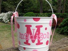 personalized easter buckets personalized 5 qt metal easter by deardoodlezdesigns
