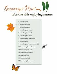 printable nature scavenger hunt free printable coloring pages