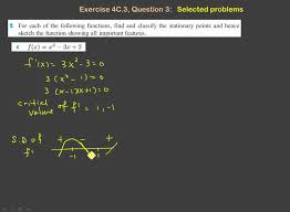 ms exercise 4c 3 curve sketching using sign diagram youtube