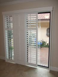 Full View Exterior Glass Door by Modernize Your Sliding Glass Door With Sliding Plantation Shutters