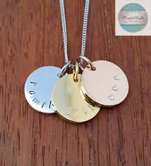 Stamped Jewelry Hand Stamped Necklace Personalized Necklace Hand Stamped Jewelry