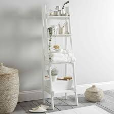 Brown Ladder Shelf Glass Ladder Shelf Amiphi Info