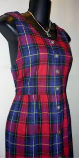 j g hook women u0027s red plaid jumper dress button front size 10