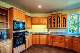 skillful oak kitchen cabinets and wall color help best paint with