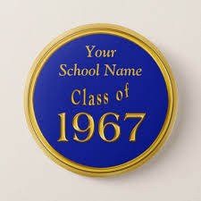 high school reunion favors blue and gold high school reunion favors ideas pinback button