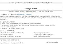 Sample Resume For Bookkeeper Accountant by Bookkeeper Resume Tips And Samples