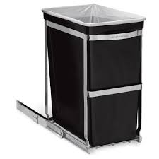 simplehuman in cabinet trash can simplehuman 30 liter pull out trash can heavy duty steel frame target