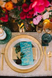 Gold Table Setting by Invitations U0026 More Photos Blue U0026 Gold Table Setting Quote