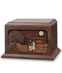 together again dimensional wood companion cremation urn engravable