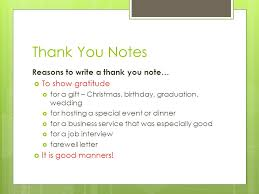 slide thank you card for gift to write notes