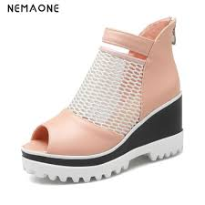 buy blue denim wedges and get free shipping on aliexpress com