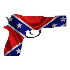 Confederate Flag Decals Truck Rebel Flag Pistol Historical Guns Stickers Truck Decal