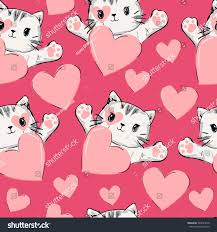 cat wrapping paper wrapping paper design valentines day vector stock vector 540024016