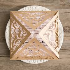 gold wedding invitations blush and gold laser cut swirl wedding invitations ewws082 as low