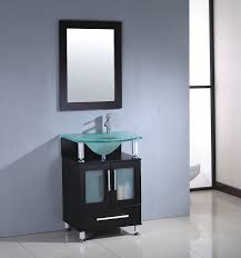 Modern Wood Bathroom Vanity Mtd Modern Oak Wood Single Bathroom Vanity Mtd 8136 Frosted