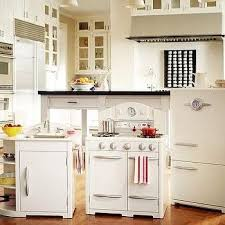 pottery barn kitchen kids distressed white paint finish brown high