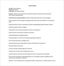 Medical Assistant Job Duties Resume by Medical Assistant Job Dutie Medical Assistant Job Description For