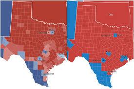 Texas Precinct Map Map Comparison Texas U0027 2012 Election Results Versus 2016 Election