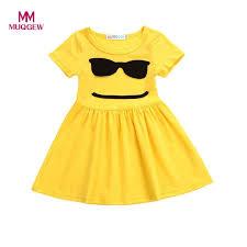 emoji robe dress for girl emoji emoticon smiley sun dresses outfits children