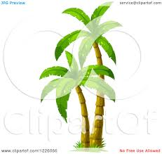 clipart of palm trees royalty free vector illustration by