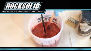 Rustoleum Garage Floor Coating Kit Instructions by Rocksolid Metallic Floor Coating Youtube