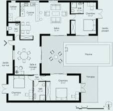plan de maison en v plain pied 4 chambres plan maison en u plain pied unique plan maison en v plain pied