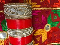 punjabi wedding chura bridal wedding chura bangles set rhinestones golden wedding