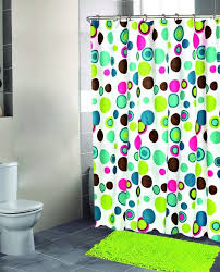 Colored Shower Curtain Attractive Washable Shower Curtain Contemporary Modern Bright