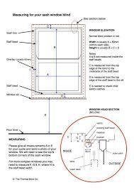 Measuring Window For Blinds Measuring For Thermal Blinds For Sash Windows The Thermal Blind Co