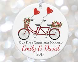 first christmas ornament married etsy