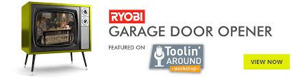 home ryobi garage door opener