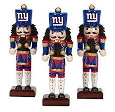 new york giants nutcracker ornaments 3pk nfl football
