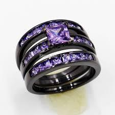 black gold wedding sets choucong women fashion jewelry 10kt black gold filled purple aaa