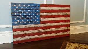 Country American Flag Handmade In Usa Vintage Rustic And Distressed Wooden U S