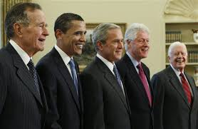 first five presidents all five living former u s presidents expected to attend
