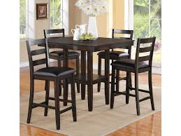 dining room counter height tables crown mark tahoe 5 piece counter height table and chairs set