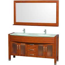 Bathroom With Two Separate Vanities by St Paul Sydney 48 1 2 In Vanity In Dark Cherry With Stone
