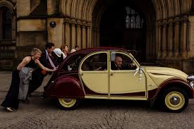 vintage citroen cars industrial wedding at victoria warehouse and manchester town hall
