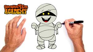 Halloween Drawings Easy How To Draw A Halloween Mummy Art For Beginners Youtube