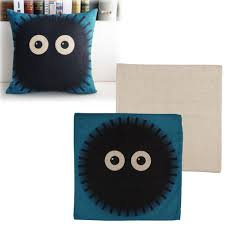 cute cartoon totoro pillow case cushion cover shell linen sofa bed